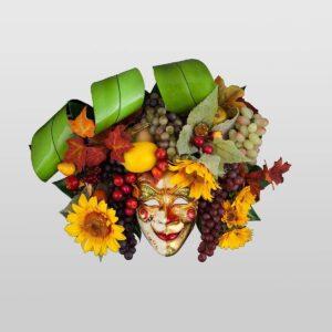 Bacco Frutta - Large - Maschera Veneziana