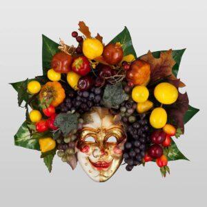 Bacco Frutta Medium - Maschera Veneziana