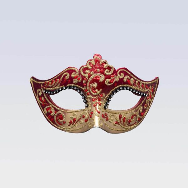 Colombina Mask - Red Color - Venetian Mask