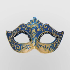 Colombina Mask - Blue Color - Venetian Mask