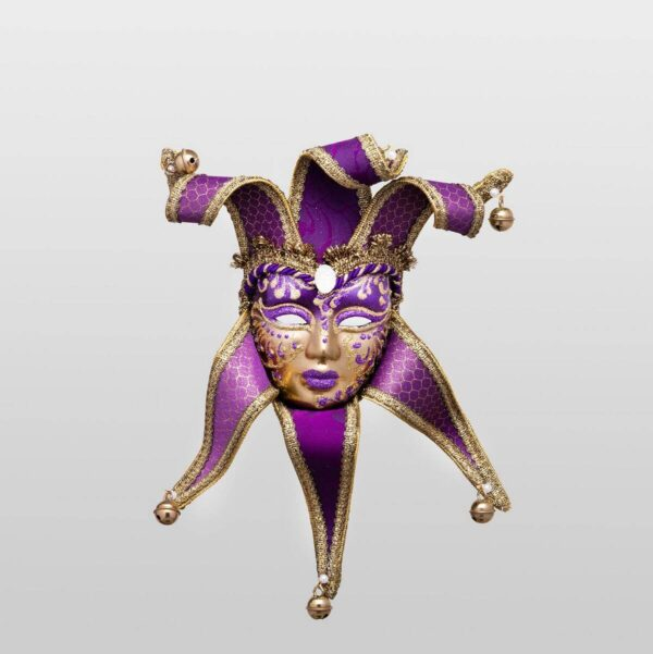 Donna Ragno Violet with Six Tips - Small Size - Venetian Mask