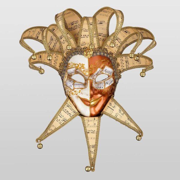 Jolly René Punte in Papier Mache - Venetian Mask