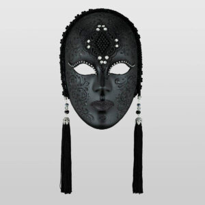 Vedova Colorata Macramè - Nero Totale - Maschera Veneziana