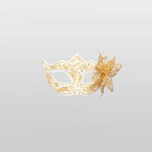 Colombina Farfalla Macrame - Total White - Venetian Mask