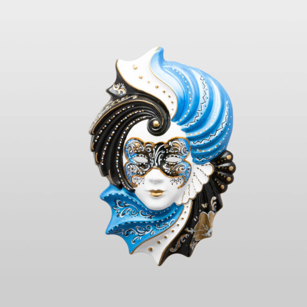 Giada Medium Light Blue - Venetian Mask