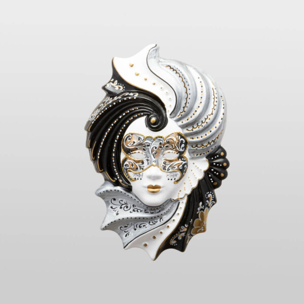Giada Medium Silver - Venetian Mask