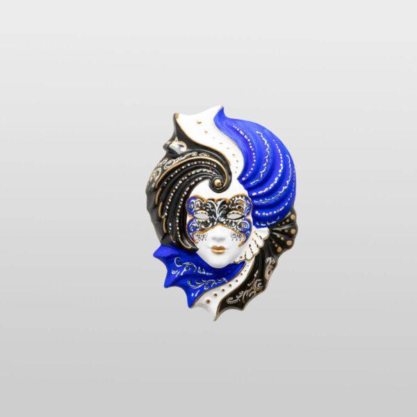 Giada - Klein - Blau - Venezianische Maske