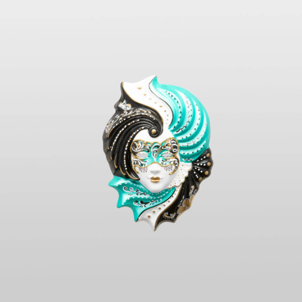 Giada - Klein - Grün - Venezianische Maske