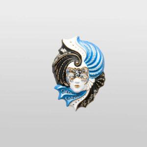 Giada - Small - Azzurro - Maschera Veneziana