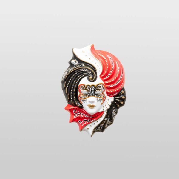Giada - Klein - Rot - Venezianische Maske