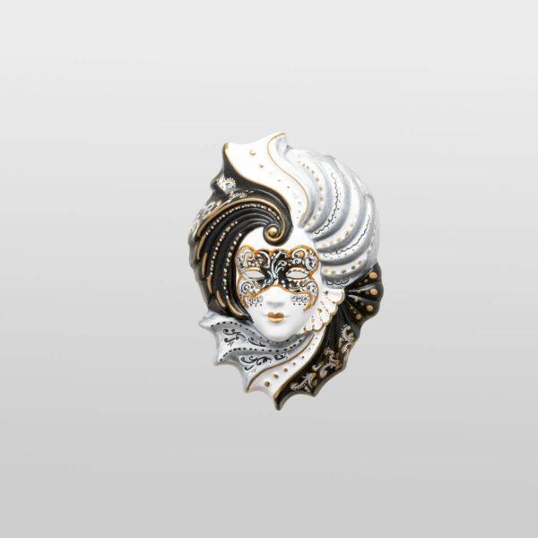 Giada - Klein - Silber - Venezianische Maske