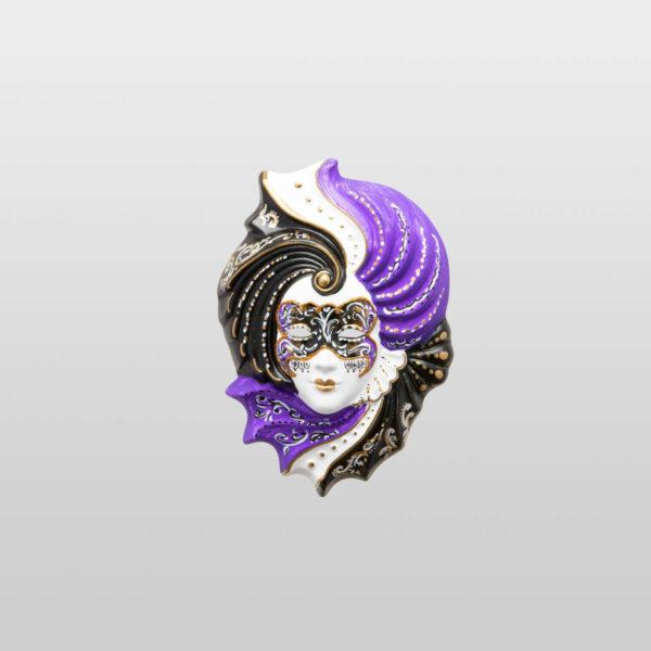 Giada - Klein - Violett - Venezianische Maske