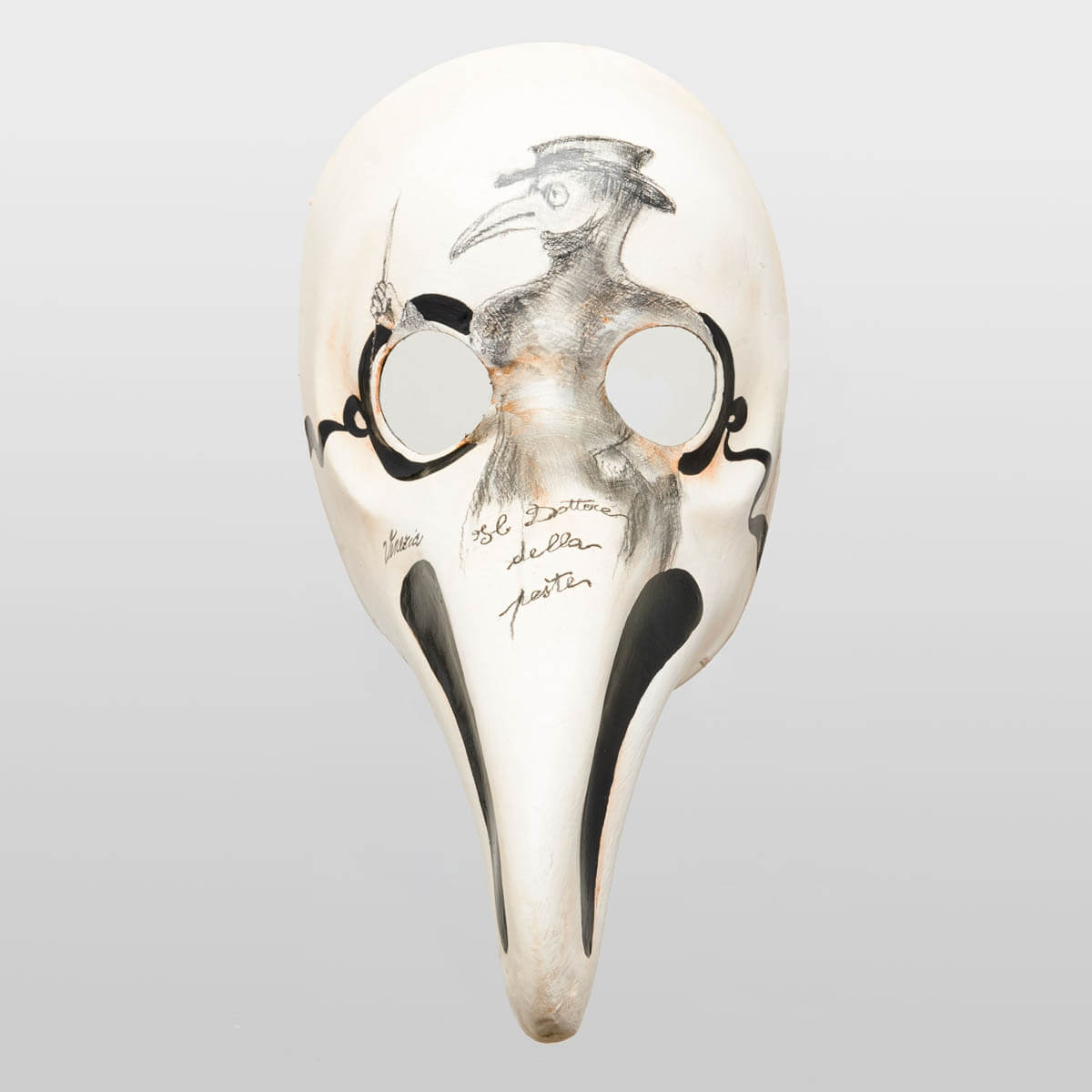 Plague Doctor Mask With Drawing Of Doctor Itself