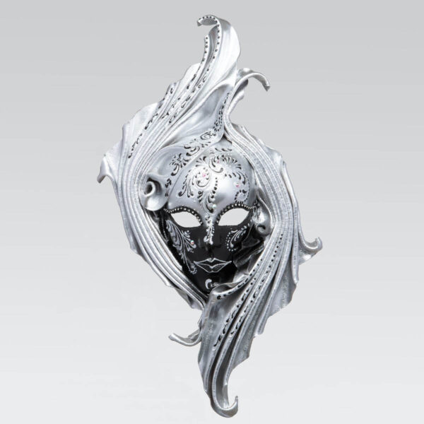 Safi - Large - Argento - Maschera Veneziana