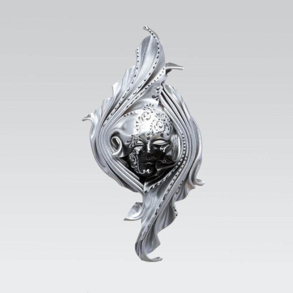 Safi Medium Silver - Venetian Mask