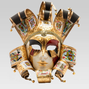 Jolly Donna Taroc with Eleven Tips - Large Size - Venetian Mask