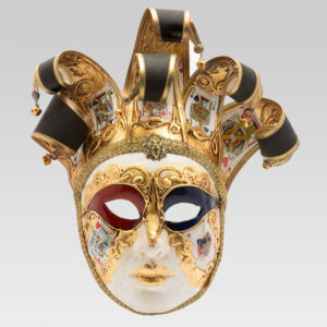 Jolly Donna Taroc with Six Tips - Large Size - Venetian Mask