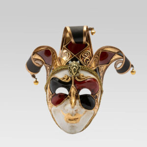 Jolly Uomo Multicolor with Three Tips - Small Size - Green - Venetian Mask