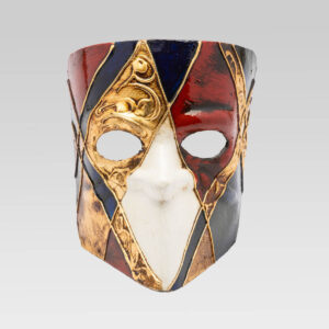 Venetian Bauta - Blue - Venetian Mask