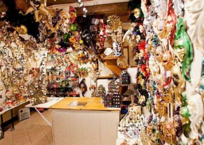 Inside the Venezia Maschere mask shop in Salizada San Lio Venice