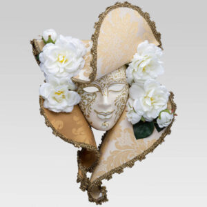 Dama Cappello Carta - Large - White Color - Venetian Mask