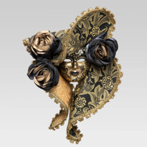Dama Cappello - Medium - Black Color - Venetian Mask
