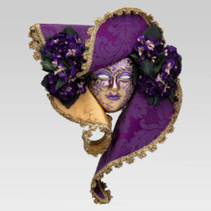 Dama Cappello - Medium - Violet Color - Venetian Mask
