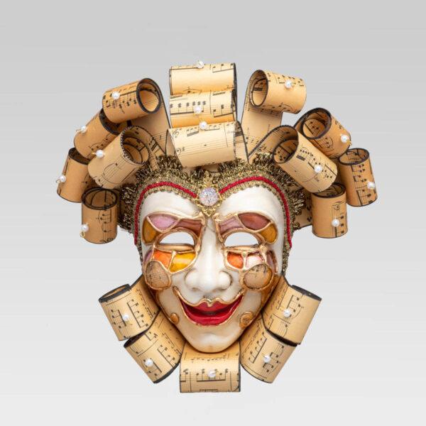 Jolly Buffo Ceramica Ricci - Music Style - Venetian Mask