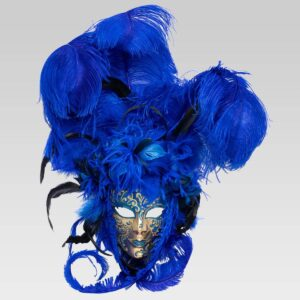 Piuma Sonia - Blue Color - Venetian Mask