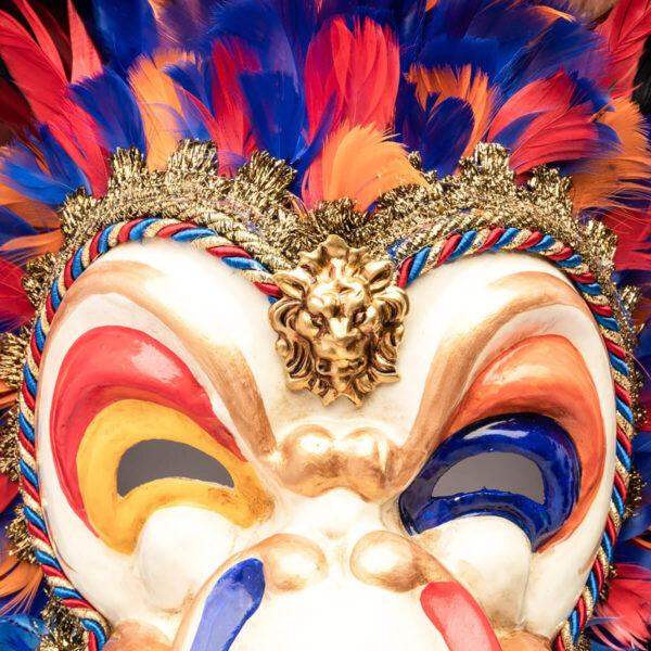 Feathered Toucan in papier mache - Multicolor - Detail 1 - Venetian Mask