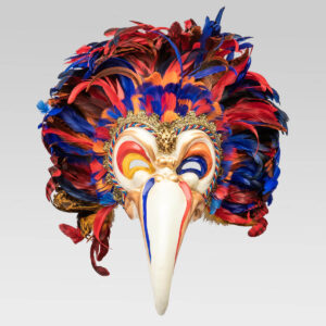 Feathered Toucan in papier mache - Multicolor - Venetian Mask