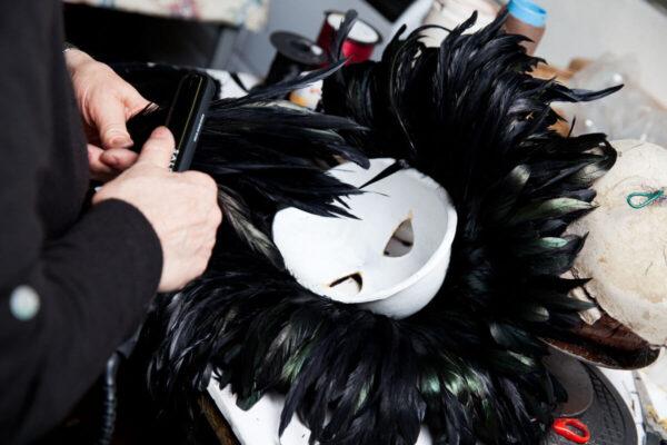 Feathered Toucan in papier mache - Venetian Mask