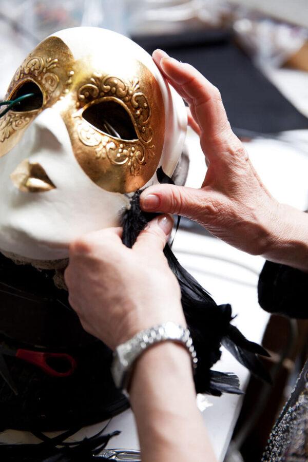 Piuma Volto intero - Detail 2 - Venetian Mask