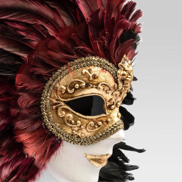 Piuma Volto intero - Multicolor - Detail 1 - Venetian Mask