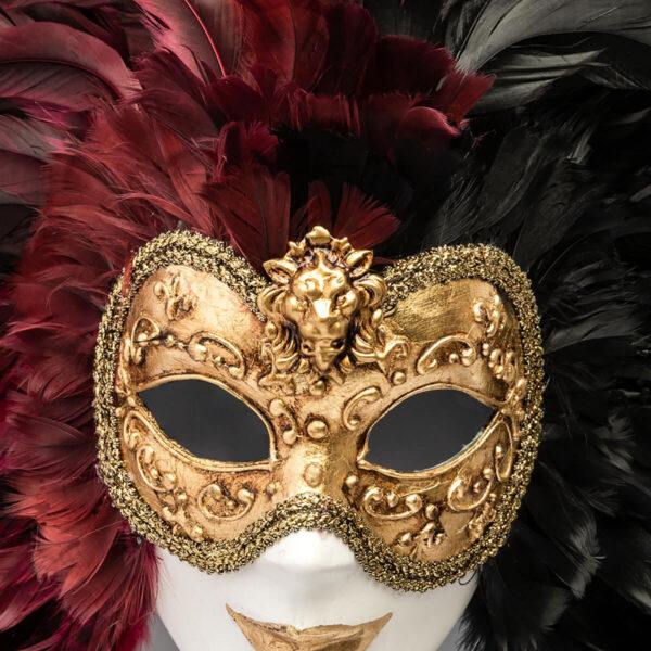 Piuma Volto intero - Multicolor - Detail 3 - Venetian Mask