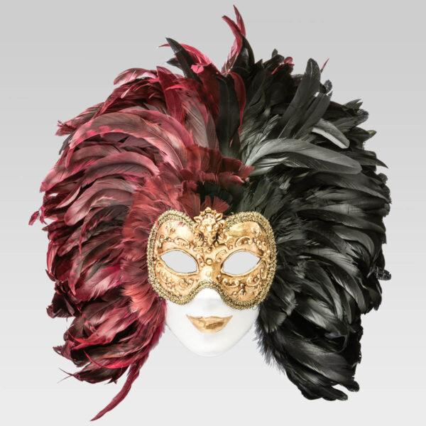 Piuma Volto intero - Multicolor - Venetian Mask