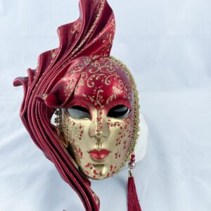 Fiamma-grande-Leather-venetian-mask-made-in-venice-red-353