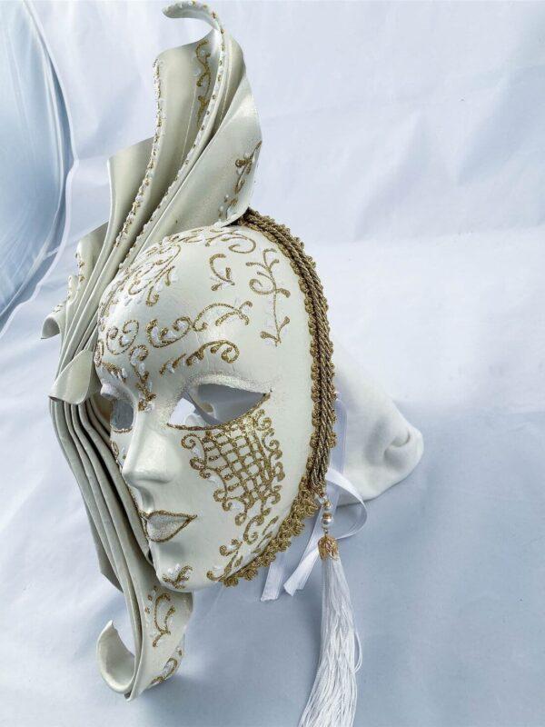 Fiamma-grande-Leather-venetian-mask-made-in-venice-white-353-3