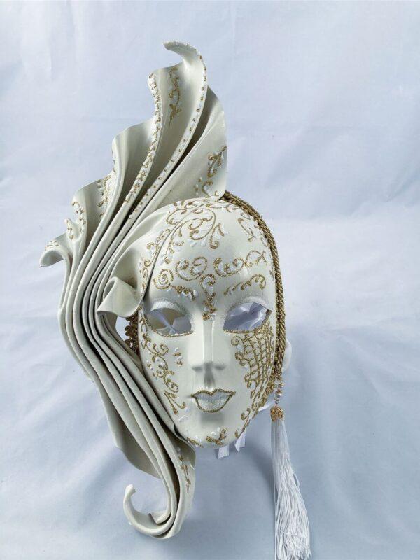 Fiamma-grande-Leather-venetian-mask-made-in-venice-white-353