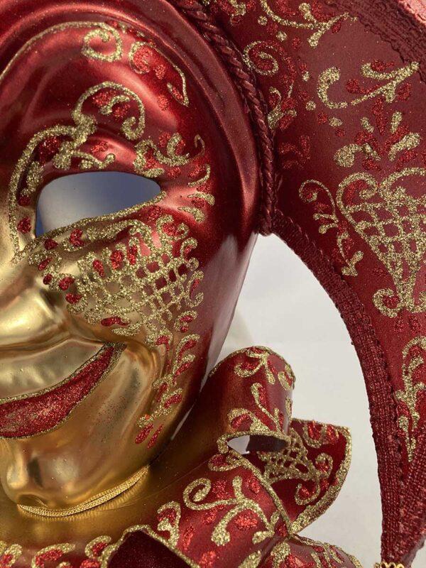 Tricorno-bavero-papier-mache-handmade- venetian-mask-made-in-venice-400bav br-ro1