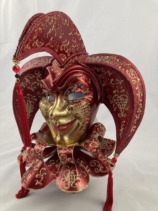 Tricorno-bavero-papier-mache-handmade- venetian-mask-made-in-venice-400bav br-ro2