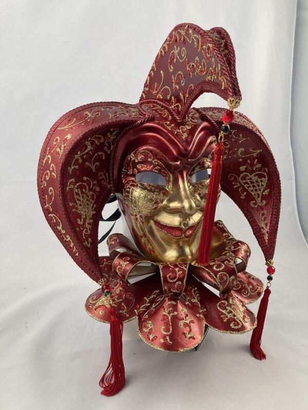 Tricorno-bavero-papier-mache- venetian-mask-made-in-venice-400bav br-ro4