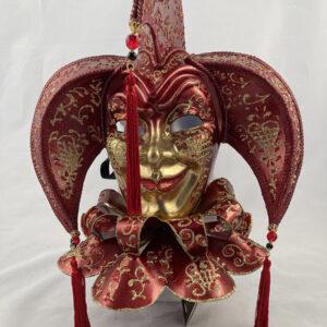 Tricorno-bavero-papier-mache-handmade- venetian-mask-made-in-venice-400bav br-ro6