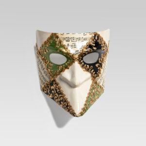 Bauta-quadri- musica-verde-handmade-in-venice-LCP001_verde