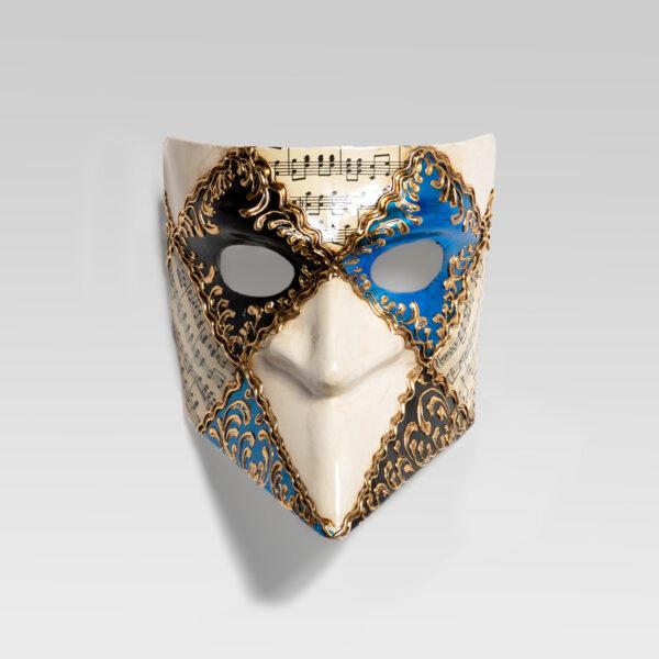 Bauta-quadri- musica-ligth-blue-handmade-in-venice-LCP002_ligth-blue