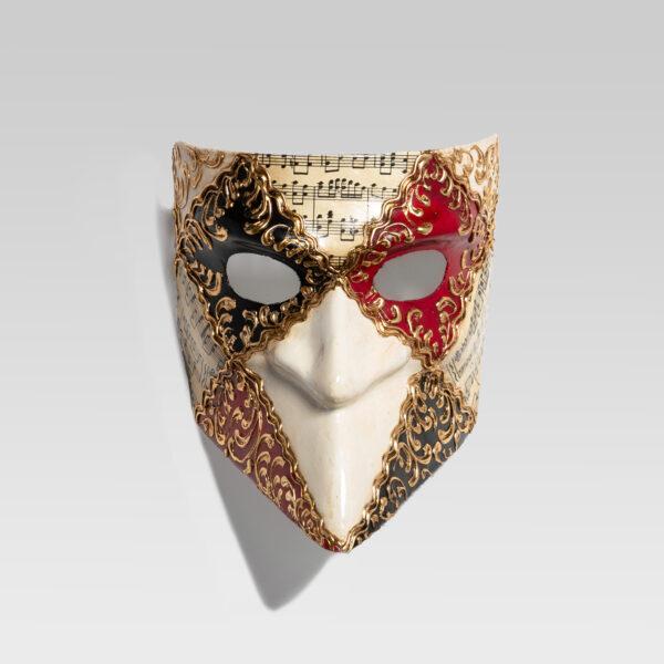 Bauta-quadri- musica-red-black-handmade-in-venice-LCP003_rosso_nero