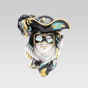 casanova_medio_handmade-venetian_mask_ceramic_TGCSN1-NERO