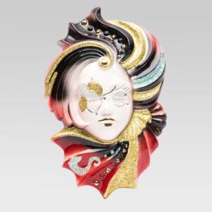 sara_grande_venetian_mask_ceramic_original_TGSR2-ROSSO